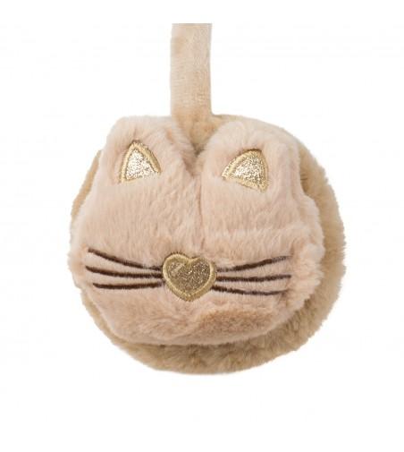 Casti de protectie urechi copii pisica, PC419-175, 2-7 ani, bej
