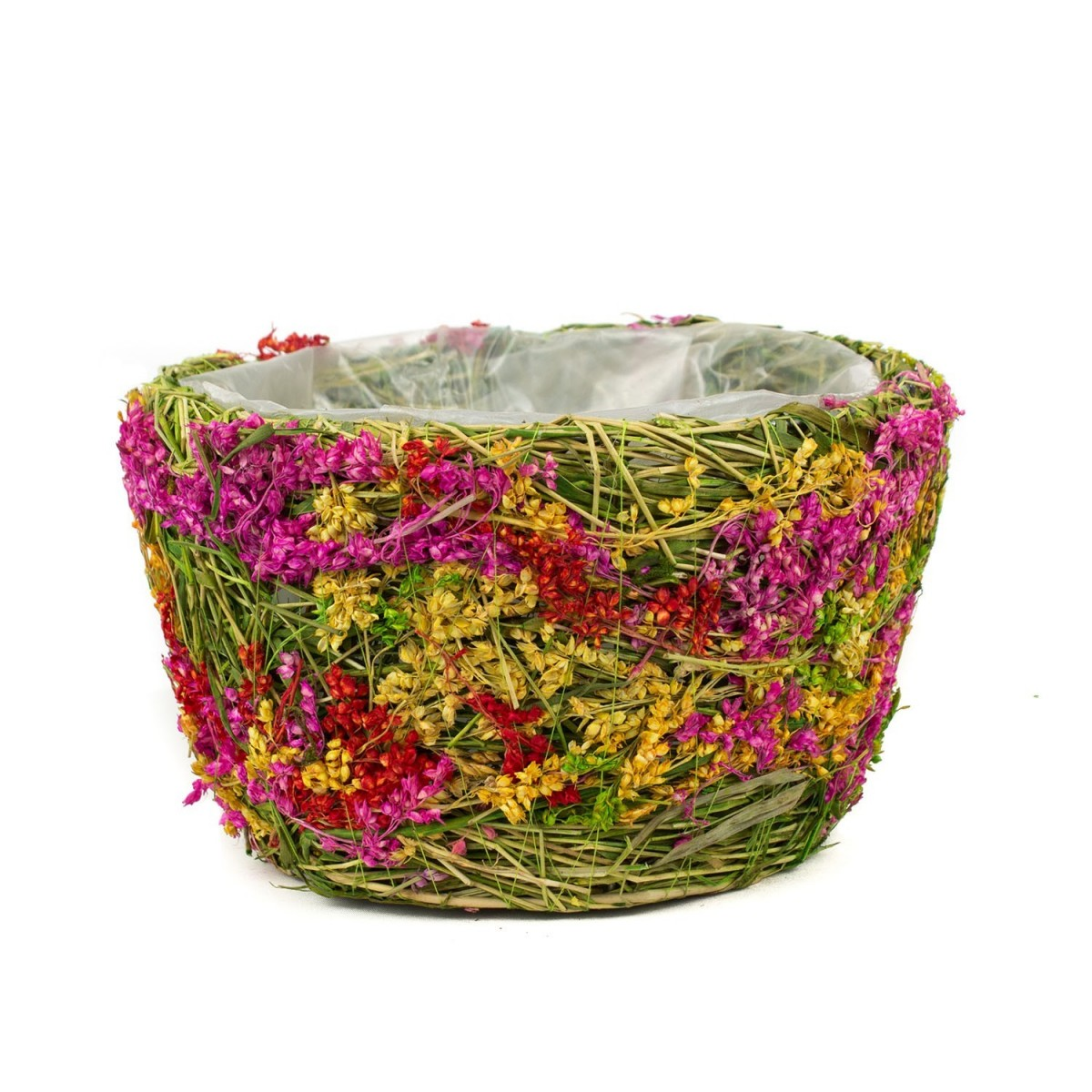 Cos handmade pentru flori, 16x11 cm, F919-151M, Portocaliu
